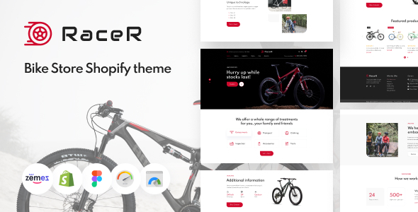 RaceR - Super Clean Bike Store Shopify Theme TFx