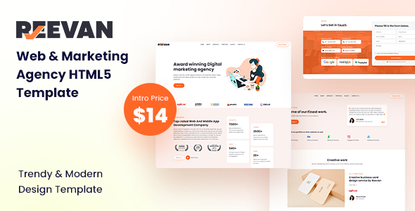 Reevan – Web amp Marketing Agency HTML5 Template TFx