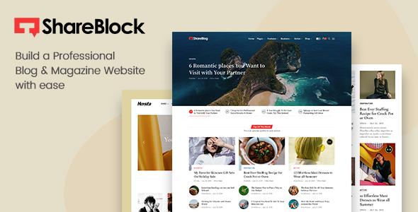 ShareBlock - Magazine amp Blog WordPress Theme TFx
