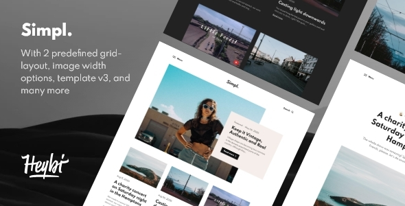 Simpl Responsive Grid-layout Theme for Blogspot TFx