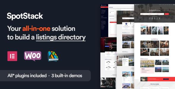 SpotStack - Directory amp Listing WordPress Theme TFx