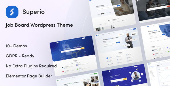 Superio  Job Board WordPress Theme TFx