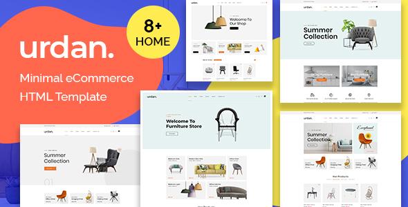 Urdan - Minimal eCommerce HTML Template TFx