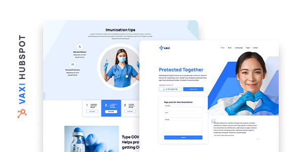 Vaxi  COVID Vaccination and Medical HubSpot Theme TFx