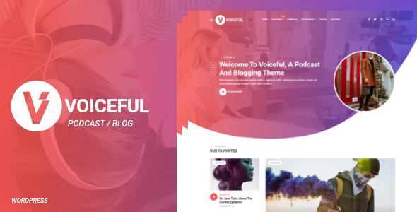 Voiceful - A Podcast  Blogging WordPress Theme TFx