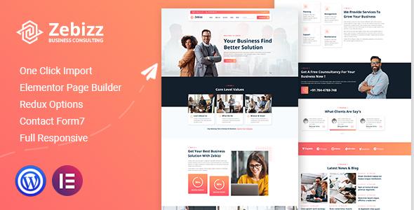Zebizz - Business Consulting WordPress Theme TFx