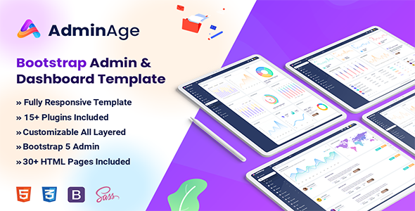 Adminage - Bootstrap Admin amp dashboard Template TFx