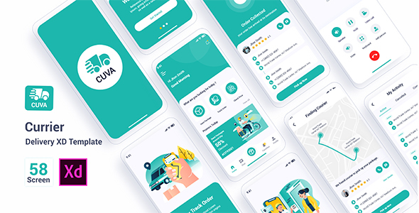 Cuva - Currier Delivery Adobe XD Template TFx