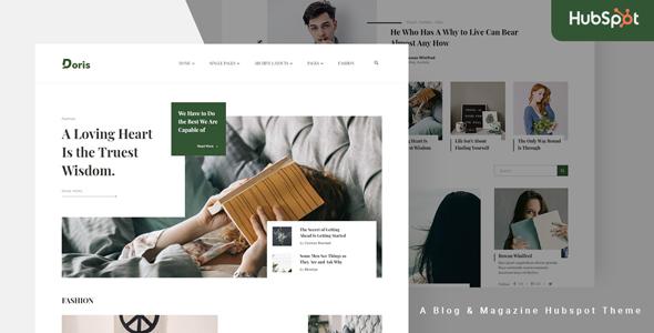 Doris - Blog and Magazine HubSpot Theme TFx