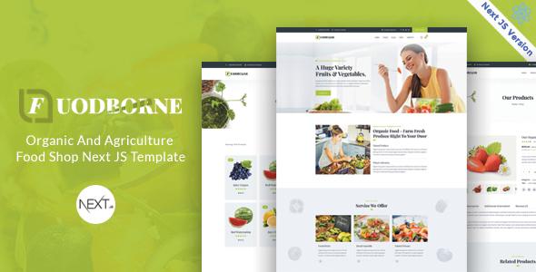 Fuodborne - Organic amp Agriculture Food Shop Next JS Template TFx
