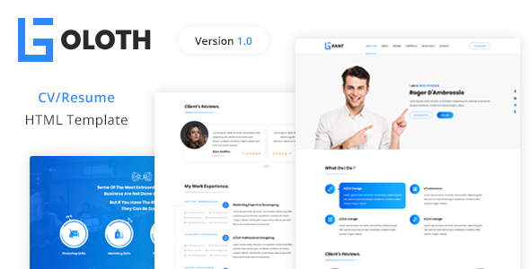 Goloth – Personal CVResume HTML Template TFx