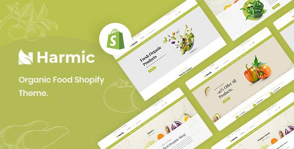 Harmic  Organic Food Shopify Theme TFx