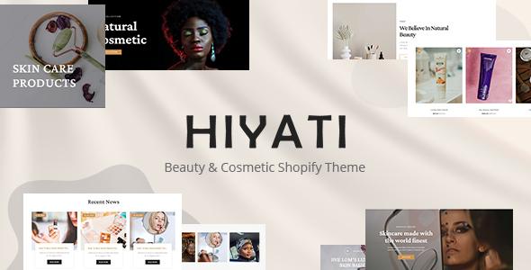 Hiyati - Beauty amp Cosmetics Shopify Theme TFx