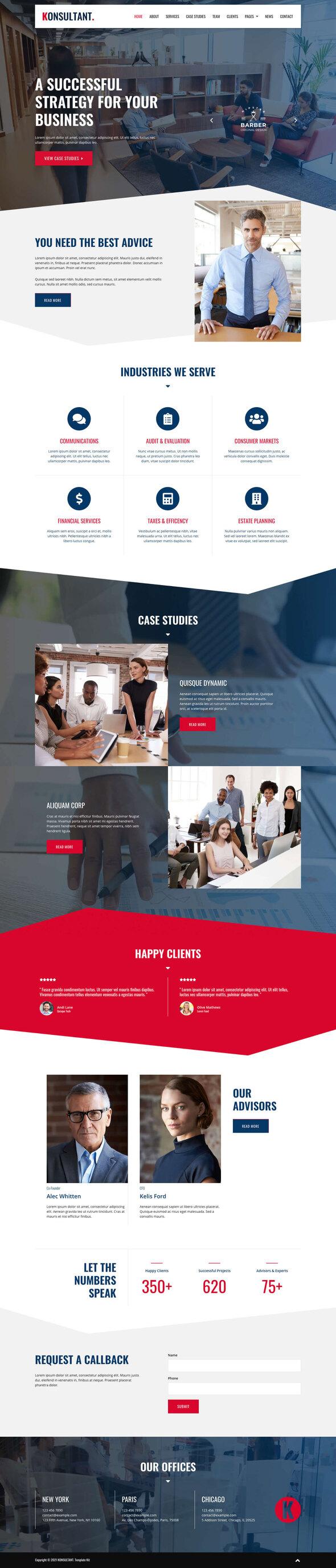 Konsultant - Consultancy Firm Elementor Template Kit TFx