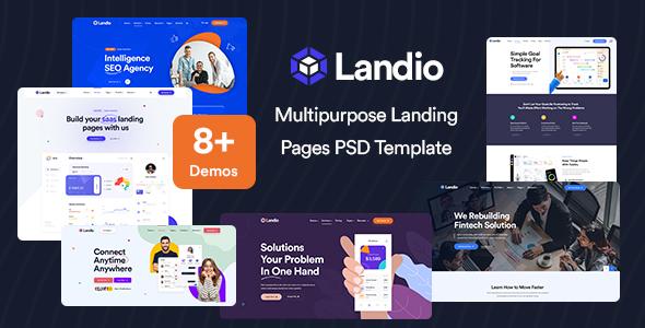 Landio - Multipurpose Landing Page PSD Template TFx
