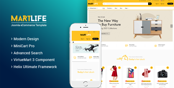 MartLife - Responsive Multipurpose eCommerce Joomla Template TFx