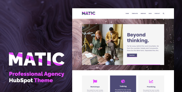 Matic - Professional Agency HubSpot Theme TFx