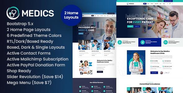 Medics - Healthcare HTML Template TFx SiteTemplates