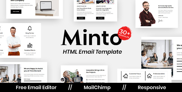 Minto Agency - Multipurpose Responsive Email Template TFx