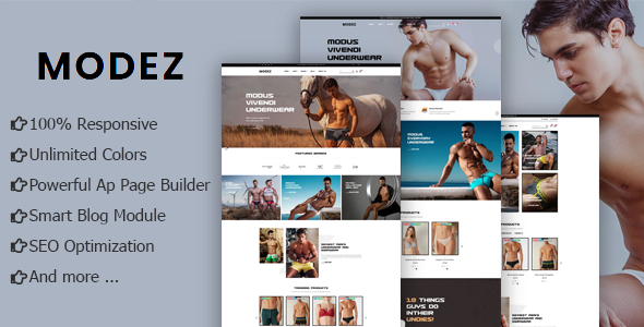 Modez - Underwear Fashion eCommerce Prestashop Theme TFx