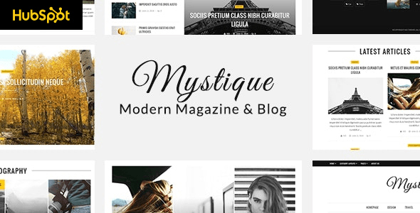Mystique - Hubspot Theme for Blog and Magazine Purpose TFx