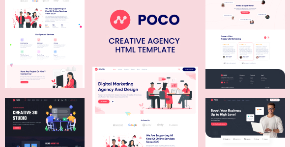 Poco - Bootstrap 4 Agency HTML Template TFx