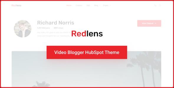 Redlens - Video Blogger HubSpot Theme TFx