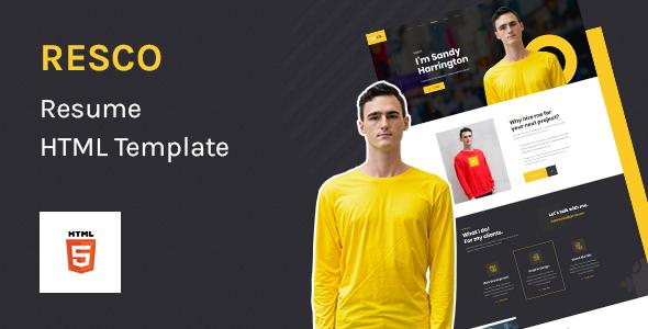 Resco – Resume HTML5 Template TFx SiteTemplates