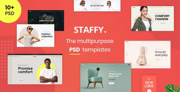 Staffy - The Multipurpose eCommerce PSD Templates TFx