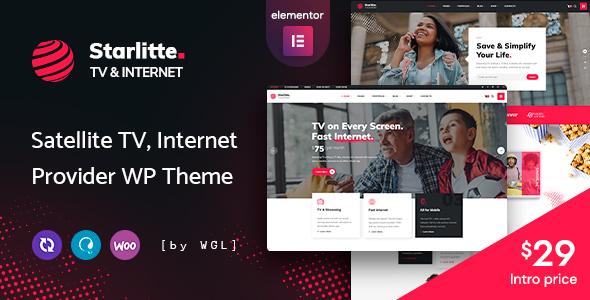 Starlitte – TV amp Internet Provider WordPress Theme TFx