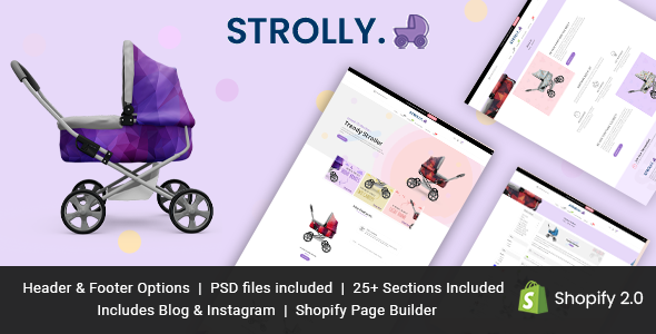 Strolly Single Product Shopify Theme TFx