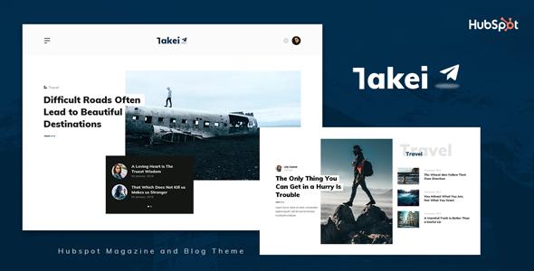 Takei - Blog and Magazine HubSpot Theme TFx
