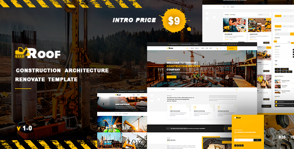 TheRoof – Construction Architecture Renovate Template TFx