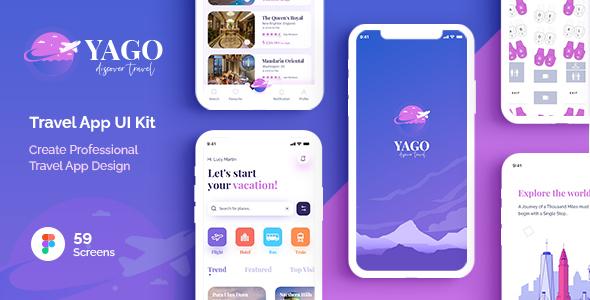 YAGO  Travel App UI Kit for Figma TFx