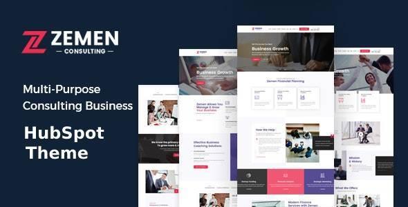 Zemen - Multi-Purpose Consulting Business HubSpot Theme TFx