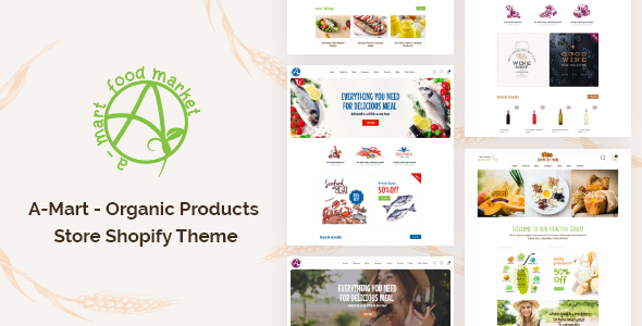 A-Mart – Organic Products Store Shopify Theme TFx