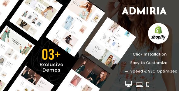 Admiria  Fashion Shopify MultiPurpose Responsive Theme TFx