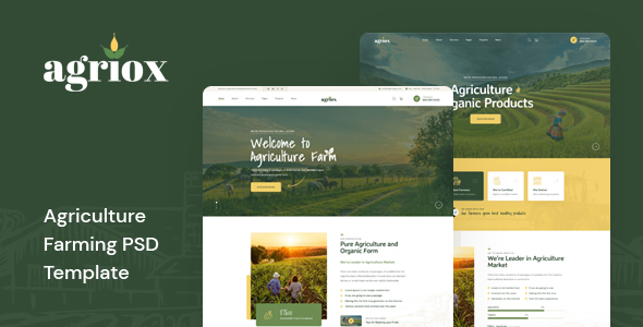 Agriox - Agriculture Farming PSD Template TFx