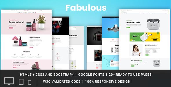 Fabulous Responsive HTML Template TFx SiteTemplates