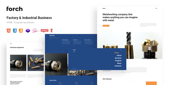 Forch – Factory amp Industrial Business HTML Template TFx