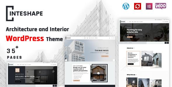 Inteshape - Architecture and Interior WordPress Theme TFx