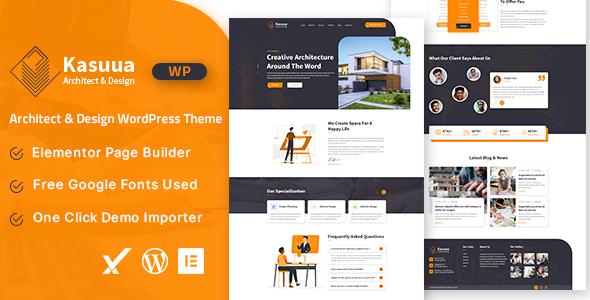 Kasuua  Architect amp Design WordPress Theme TFx