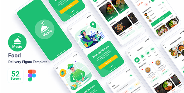 Mesio - Food Delivery Figma Template TFx