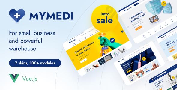 MyMedi – eCommerce vue Template TFx SiteTemplates