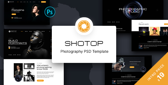 SHOTOP - Photography PSD Template TFx