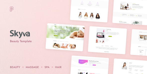 Skyva  Massage amp Spa Beauty Salon Figma Template TFx