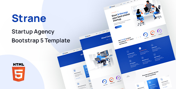 Strane – Startup Agency Bootstrap 5 Template TFx