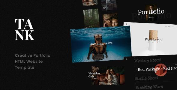 Tank – Creative Portfolio Showcase HTML Website Template TFx