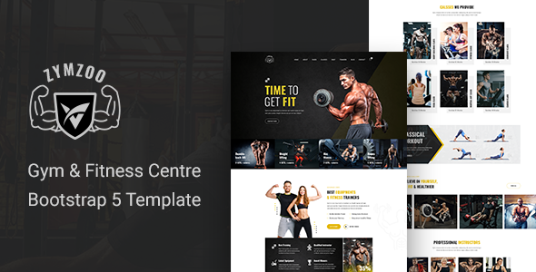 Zymzoo – Gym amp Fitness Centre Bootstrap 5 Template TFx