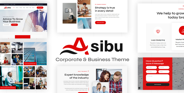 Asibu - Business WordPress Multi-Purpose TFx